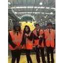 Students visit flagship Hitachi train maintenance centre