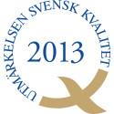 Ceremoni - Utmärkelsen Svensk Kvalitet 2013