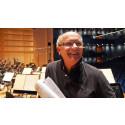 Christian Lindberg under inspelningsarbete i De Geerhallen, Norrköping