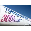 TURKISH AIRLINES HAR TAGIT EMOT FLYGPLAN NUMMER 300