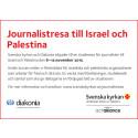 Journalistresa till Israel och Palestina