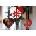 Flettet julehjerter med hjerter