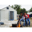 Better Shelter in Karatepe transit camp, Mytilini, Lesvos, Greece