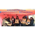 Santa's gifts to shoppers on Bury Market
