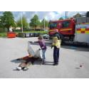 Femteklassare fick lära sig om brandskydd