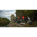 Mynewsdesk team on a hike in the Swedish forests
