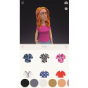 Screenshot iPhone: Choose from different clothes and accessories