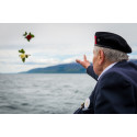Veterans and soldiers commemorating the Narvik campaign of the Second World War