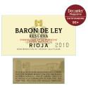 Baron de Ley Reserva 2010 vald till bästa Rioja av Decanter.