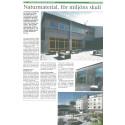 """""""Naturmaterial, för miljöns skull"""", tidningen Näringsliv, januari 2014"""