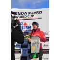 Ny tredjeplass til Helene Olafsen i verdenscupen i snowboardcross