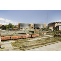 Wingårdhs runda p-hus i glas stärker hållbarheten på Campus Solna