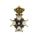 Mynt 6/9, Nr. 95, RIDDARTECKEN, förgyllt silver, emalj, Nordstjärneorden