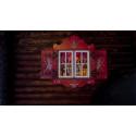 Santaworld traditionally painted window