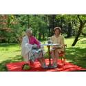 To dronninger i parken ved Baroniet Rosendal