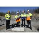 Första spadtaget för AGA:s nya vätgasanläggning i finska Borgå