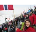 På skirenn i Holmenkollen for aller første gang