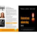 Programfolder Förintelsens minnesdag 2015