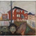 Edvard Munch: Rød villvin, 1898-1900