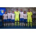 FIGC & PUMA Present the New Italy Away Kit. Pictured Left to Right:  Alia Guagni, Marco Ercolessi, Marco Verratti, Gianluigi Buffon, Giorgio Chiellini, Susanna Nicoletti & Alessio Battini