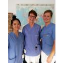 Min-Min Chiang, tandläkare, Solveig Olofsson, tandläkare och ansvarig handledare för traineeprogrammet och Sarah Carlsson, tandläkare.