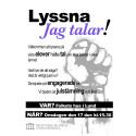 Elever säger sin mening på Folkets Hus i Lund