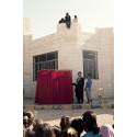 En föreställning av och med Clowner utan Gränser i ett av UNHCR:s flyktingläger