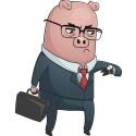 Varning för grisen i säcken