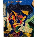 Madame Butterfly. A cubist painting of the famous lady portrayed in Puccini's opera.