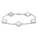 Smyckekvaliten 25/4, Nr: 160, VAN CLEEF & ARPELS, armband, Alhambra vintage, 18K vitguld