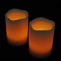 Blockljus med färgval och fjärr 3-pack-frilagd orange