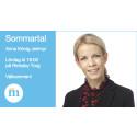 Anna König Jerlmyr (M) sommartalar på Rinkeby Torg den 6 juni