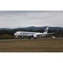 Finnair A350 i Norge for første gang