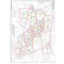 Karta över stadsdelsindelningen