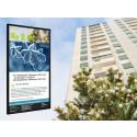 Brf City kommunicerar effektivt via digitala trapphustavlor