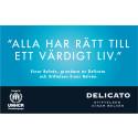 Delicato och Stiftelsen Einar Belvén skänker en miljon kronor till UNHCR