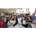 Drottning Silvia diplomerar personal på Danderyds sjukhus