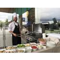 Sommar BBQ på Sheraton Stockholms terrass.