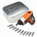 KC460LNAT 3.6v Compact Cordless Screwdriver + accessories in a tin