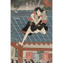 Impressions. Five Centuries of Woodcuts.  Shunkôsai Hokushû, Nakamura Utaemon acts as Ishikawa Goemon, 1822.