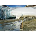 Smältande glaciärer avslöjar framtidens fjällvärld