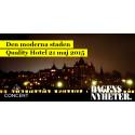 """Concent talar på seminariet """"Den Moderna Staden"""" i sammarbete med DN"""