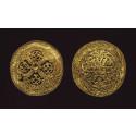 Guldspænder fundet i Hornelund i 1892