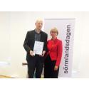 Kultur- och fritidschef Lars Furborg tilldelades Sörmlandsmedaljen