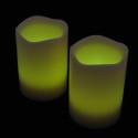 Blockljus med färgval och fjärr 3-pack-frilagd limegröna