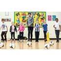 Experts examine footballers' impact on school children's fitness