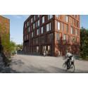 Nybyggnad med park för fler gröna mötesplatser på KTH Campus