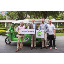 AccorHotels promotes green energy transportation on electric rickshaw from Bangkok to Toulouse