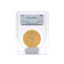 Mynt 6/9, Nr: 258, MYNT, 21,6K guld, 20 Dollar, 1927, USA, graderad av PCGS till MS64