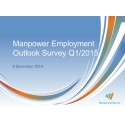 Manpower Employment Outlook Survey Indicates Upbeat Hiring Plans for First Quarter of 2015